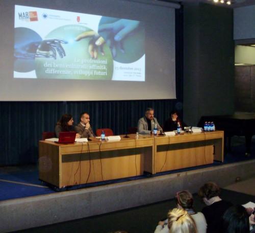 Le professioni dei beni culturali - Convegno MAB FVG - Trieste, 13 dicembre 2013