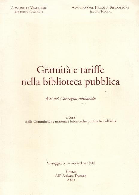 Gratuità e tariffe nella biblioteca pubblica