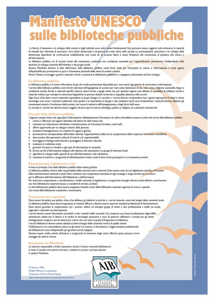 Manifesto Unesco sulle biblioteche pubbliche