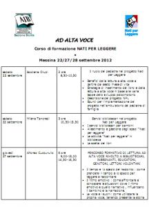Programma dettagliato corso NPL Messina