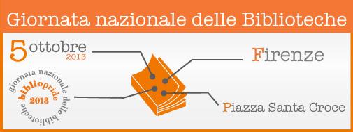 Banner BiblioPride 2013 - 5 ottobre - Firenze Piazza Santa Croce