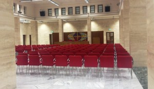 "Hall ""St. Pio X"", main conference venue"