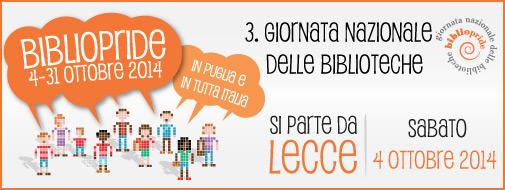 Banner BiblioPride 2014 - 4 ottobre - Lecce