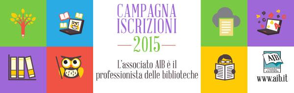 Iscriviti all'AIB per il 2015!