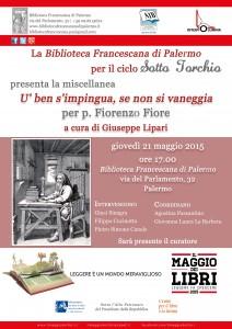Presentazione miscellanea per p. Fiorenzo Fiore
