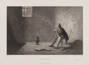 In de gevangenis (im carcer), Schultz, C. (graveur)