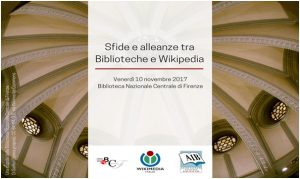 sfide e alleazne tra biblioteche e wikimedia