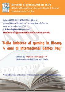 Locandina Seminario Aib Puglia 31 gennaio 2018
