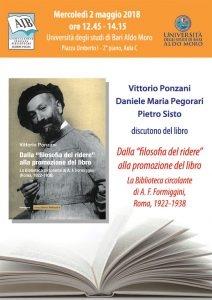 """Seminario sul libro Dalla """"filosofia del ridere"""" alla promozione del libro di Vittorio Ponzani"""