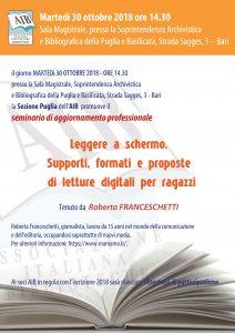 Seminario AIB Puglia 30 ottobre 2018