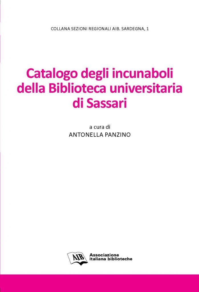 Catalogo degli incunaboli della Biblioteca universitaria di Sassari