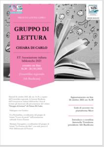 Locandina Gruppo di lettura